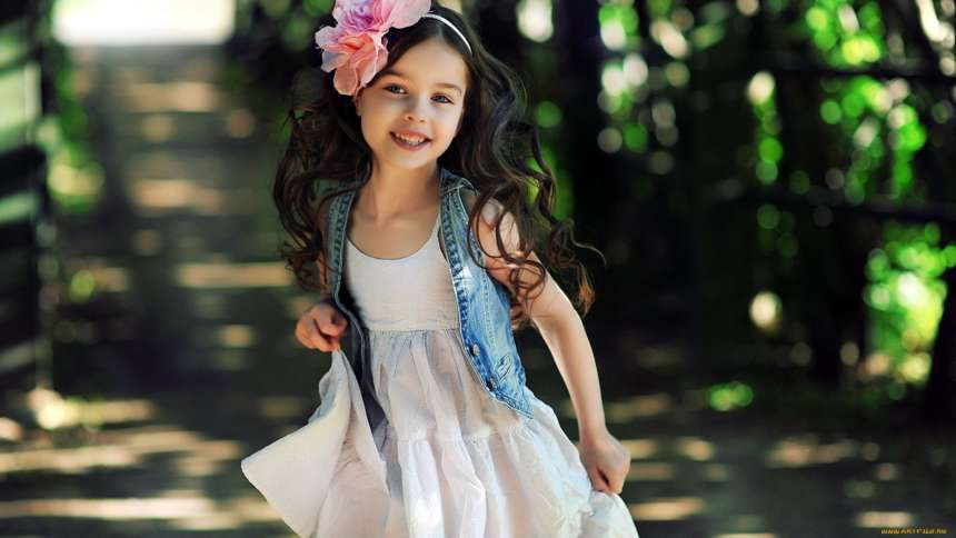 Современные фасоны детских платьев
